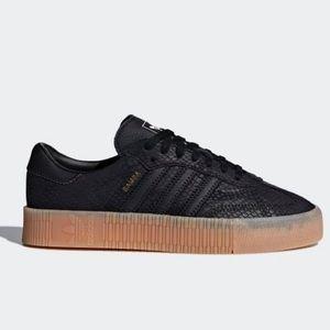 WMNS SZ 10.5 Adidas Blk Snake Sambarose Sneaker